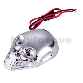 1x Skull Totenkopf LED Licht Motorrad Blinker Lampe Dekoration DC 12V