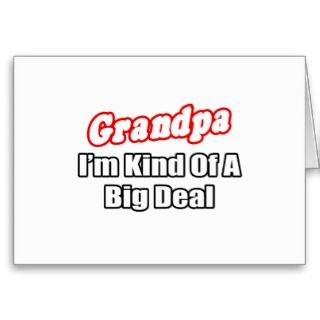Greeting Cards, Note Cards and Funny Grandpa Greeting Card Templates