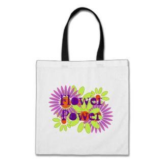 GR8 Retro Crazy Daisy Dazy Flower Power Tote Bag