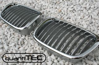 VOLL CHROM NIEREN FRONT GRILL FRONTGRILL KÜHLERGRILL BMW E39 5er M5