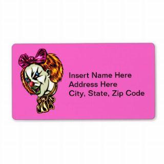 Vicious Female Clown Custom Shipping Label