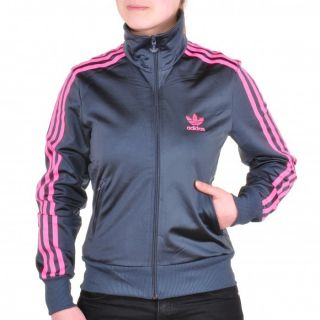 adidas firebird tt trainingsjacke jacke jacket grau dark grey pink. Black Bedroom Furniture Sets. Home Design Ideas