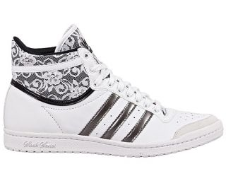 ADIDAS TOP TEN HI SLEEK [40 UK 6.5] Weiss Schuhe NEU