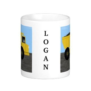 Logan Dump Truck Personalized Name Mug