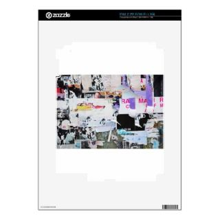 Graffiti Wall Banksy Style Torn Paper Decal For iPad 2