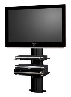 02 LED/LCD/PLasma Wand TV Rack   Schwarz, Weiß oder Silber