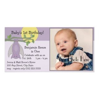 October Baby/ Birthday Photo Customized Photo Card