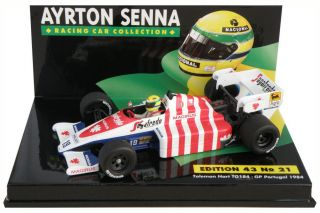 Toleman Hart TG184 Portugal GP 1984   Ayrton Senna 1/43 Scale