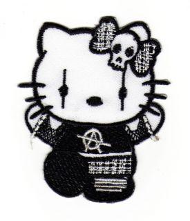 an45 Aufnäher Punk Aufbügler Gothic Hello Kitty Cat EMO