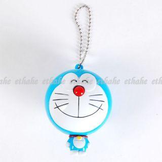 Doraemon Figur Maßband Bandmaß Anhänger Kette Blau 8O53