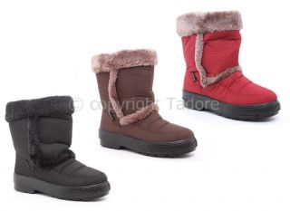 WOMENS WINTER WELLIES SNOW BOOTS LADIES ANKLE FUR MUCKER SHOE SIZE 3 4