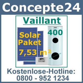Vaillant VFK 145 V 400l Solar Paket 7,53 m² Kollektoren Solaranlage