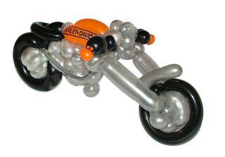 Chopper Harley aus Luftballons 50 cm Geschenk Geburtstag Präsent Gabe