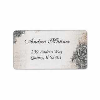 Antique Vintage Rose Address Labels