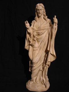 JESUS der gute Hirte Statue Hirtenstab, 52 cm,cremefarben,NEU