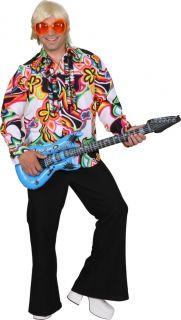 70er Jahre buntes Hemd Flippie Gr 58/60 Hippie Karneval Retro Fasching