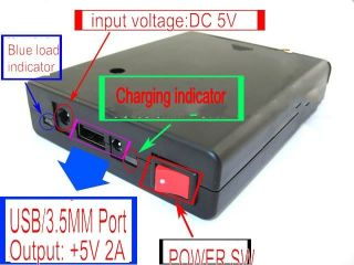 Mobile Power Box 5v/2A 18650 Battery Charger  PHONE