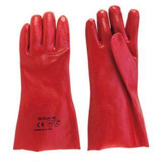 Ironside 351113 Arbeits Handschuh oelfest lang PVC getaucht lange