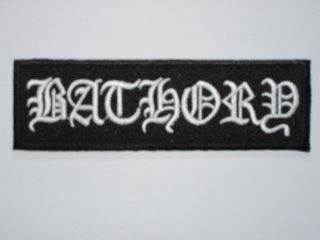 BATHORY Logo Iron On Heavy Metal Embroidered Band Patch FREE SHIPPING