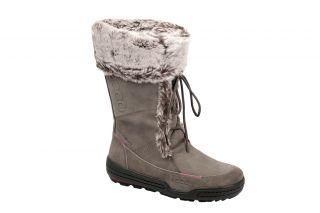 Ecco Siberia Damen Stiefel warm grey grau Fellfutter Winterstiefel NEU