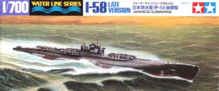 Tamiya 31435 IJN Japanese Submarine I 58 LATE 1/700 scale kit