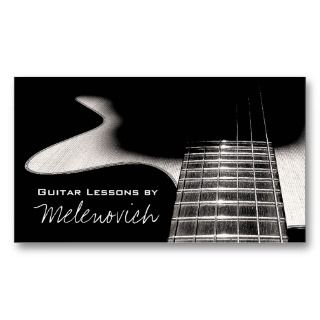 Guitar Lessons, Music Business Card