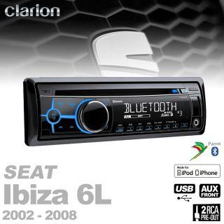Clarion MP3 CD Bluetooth Radio+Antennenadapter+Anschlusskabel für