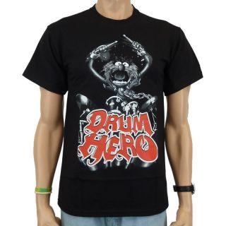 The Muppets   Drum Hero T Shirt, schwarz