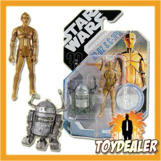R2 D2 C 3PO McQUARRIE FIGUR EXCLUSIVE STAR WARS HASBRO