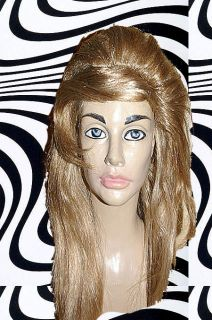 60er 70er Jahre Hippie Perücke toupierte Frisur Retro