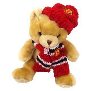 Offizieller Manchester United Hat and Scarf Teddy Bear / Mütze und