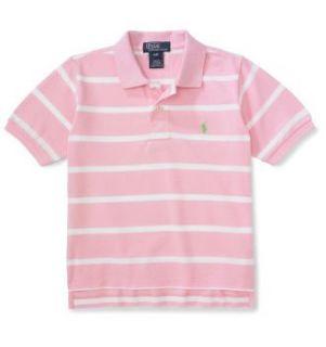 RALPH LAUREN Kinder Polohemd   Polo Shirt   Rosa/weiss Gr. 116/122 (US