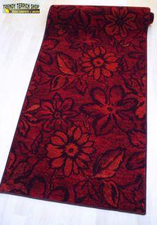 Exclusiv Teppich Läufer *FLAIR R6 rot* 67 cm Breite