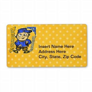 Cartoon Character Dance Shipping Labels