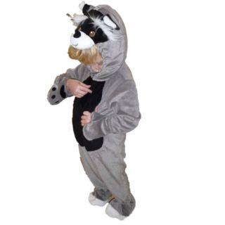 Kostüm Fasching Halloween Karneval Waschbär Racoon Costume Junge 74