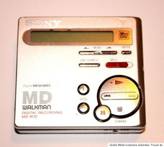 Sony MiniDisc Recorder MZ R70 player Walkman MZ R70