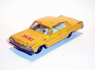 MATCHBOX 1 75 No.20 Chevrolet Impala Taxi 1965 RW Regular Wheels