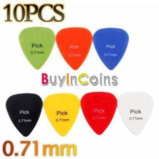 10 PCS Smooth Nylon 0.71mm Guitar Picks Plectrums #3