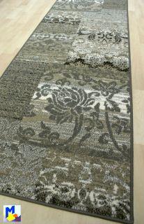 Teppich Läufer *CASA VINTAGE* 80 cm breit gewebt beige braun grau BF
