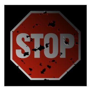 STOP sign Print