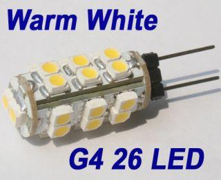 G4 26 SMD LED Warm White Marine Light Bulb Lamp 12V 2W