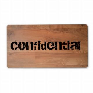 Confidential Top Secret Wood Floor Avery Label