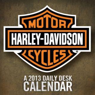 Harley Davidson   2013 Daily Desk Calendar Calendar Calendars