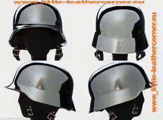 Galvania Stahlhelm,JET HELM,Biker,Chopper Helm CHROM, Wehrmachtshelm