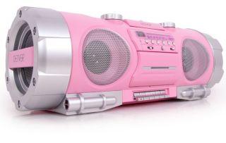 Ghettoblaster CD Player Radio Denver TCD 86 pink Karton beschaedigt