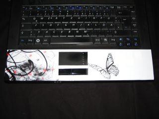 Notebook Cover Schmetterling Weiß Schwarz BLICKFANG Laptop Aufkleber