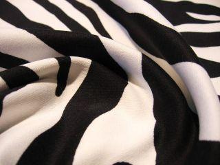 Zebra Stretch Stoff Baumwolle Hosenstoff Jacke Hose Meterware B80