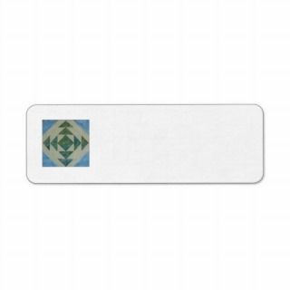 Quilt block return address label #10