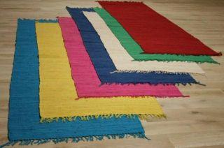 Orient Teppich Läufer 80 x 300 cm Gelb Hand Webteppich