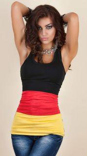 Damen Trikot,Tanktop,Fussball Shirt, Deutschland Fahne EM Fan 2012 34